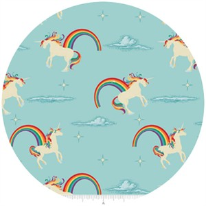 Doohikey Designs, Unicorns & Rainbows, Unicorn Aqua
