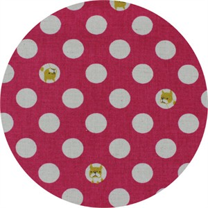 Japanese Import, CANVAS, Dog Dot Fuchsia
