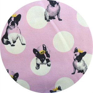 Japanese Import, CANVAS, Doggie Royalty Pink