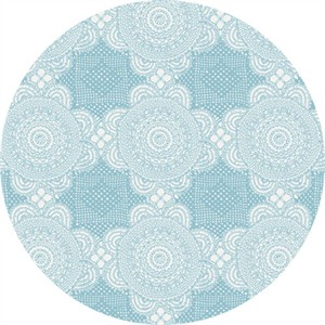 Rosalie Dekker for Ella Blue, Gembrook, LINEN, Doily Blue