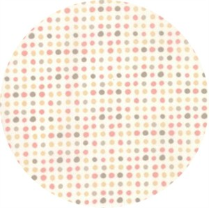 Moda, Corner of 5th and Fun, BRUSHED COTTON, Dots Ivory Rosie