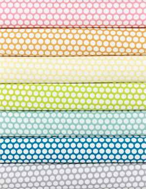 Jay-Cyn Designs for Birch Fabrics, Mod Basics, ORGANIC, Dottie Cream 7 Total