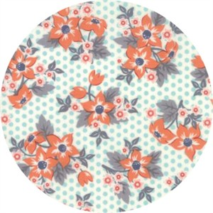 April Rosenthal for Moda, Sweet Marion, Dotty Garden Robins Egg