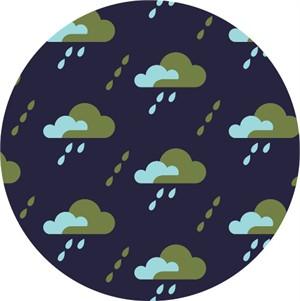 Jessica Jones for Cloud9, Spring Quartet, CORDUROY, Droplet Dark Navy