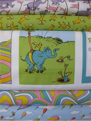 Dr. Seuss Enterprises, Oh The Places You'll Go, Rainbow in Fat Quarters, 5 Total