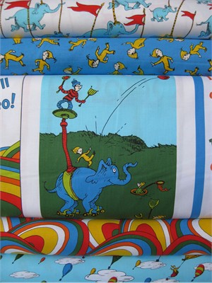 Dr. Seuss Enterprises, Oh The Places You'll Go, Celebration in Fat Quarters, 5 Total