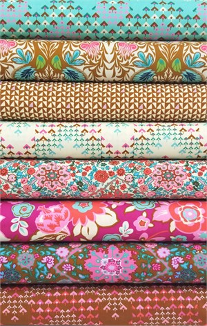 Amy Butler for Free Spirit, Soul Mate, Dusty Pink in FAT QUARTERS 8 Total