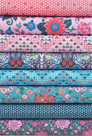 Amy Butler for Free Spirit, Soul Mate, Dusty Violet in FAT QUARTERS 8 Total