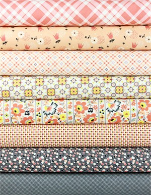 Denyse Schmidt for Free Spirit, Eastham, Bittersweet in FAT QUARTERS 8 Total