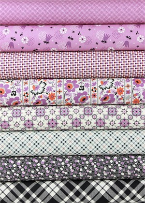 Denyse Schmidt for Free Spirit, Eastham, Thistle in FAT QUARTERS 7 Total