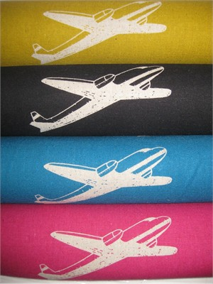 Echino by Etsuko Furuya, Nico, Fall 2012, Airplane Sampler in FAT QUARTERS 4 Total