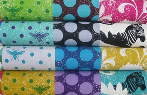 Echino, Decoro 2013, Twin in FAT QUARTERS 4 Total�(Pre-cut)