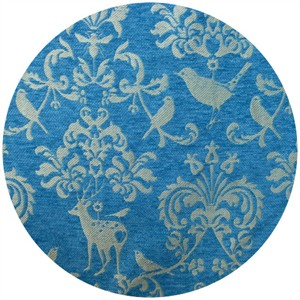 Echino, Decoro BROCADE, Deer Damask Teal