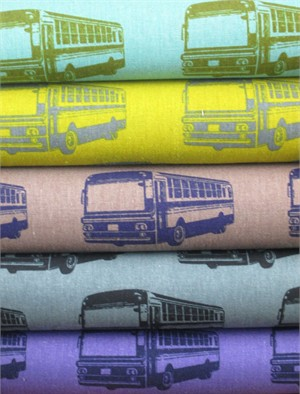 Echino, Decoro, Bus Sampler in FAT QUARTERS 5 Total