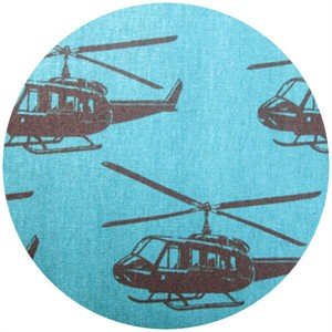 Echino, Decoro, Helicopter Blue/Green