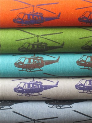 Echino, Decoro, Helicopter Sampler in FAT QUARTERS 4 Total