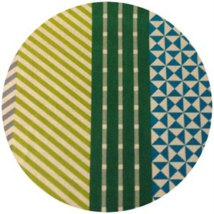Echino, Decoro, OILCLOTH, Nico Green/Yellow