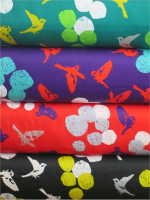 Echino, Decoro, Soaring Sampler in FAT QUARTERS 4 Total