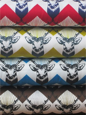 Echino, Decoro, Stag Sampler in FAT QUARTERS 4 Total