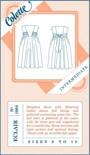 Colette, Sewing Pattern, Eclair Dress
