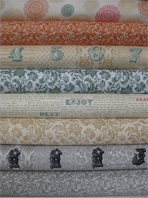 Echo Park for Andover, Love Notes, Cream in FAT QUARTERS 8 Total