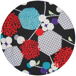 Echino, Wide Width Sheeting, Geometric Berries Black