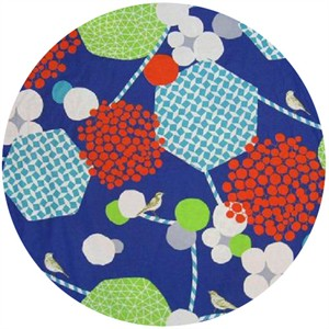 Echino, Wide Width Sheeting, Geometric Berries Blue