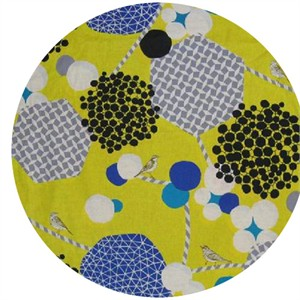 Echino, Wide Width Sheeting, Geometric Berries Yellow