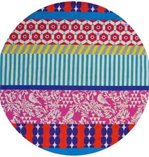 Echino, Wide Width Sheeting, Pink Bird Stripe