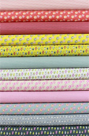 Marisa for Kokka, The Tinies in CANVAS in FAT QUARTERS 12 Total (PRE-CUT)
