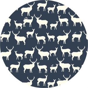 Jay-Cyn Designs for Birch Fabrics, Mod Basics 2, Organic, Elk Fam Dusk
