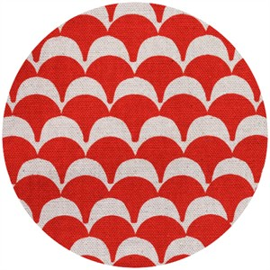 Ellen Luckett Baker for Kokka, Stamped, Scallops Red