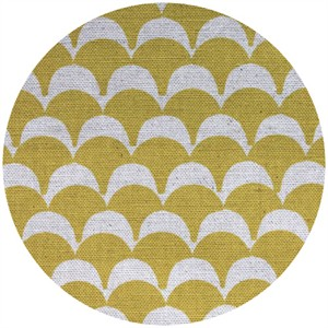 Ellen Luckett Baker for Kokka, Stamped, Scallops Yellow