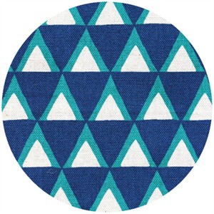 Ellen Luckett Baker for Kokka, Stamped, Triangles Blue