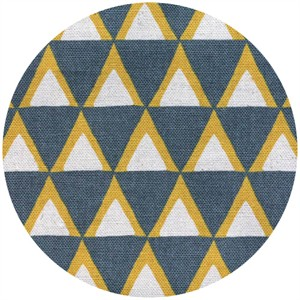 Ellen Luckett Baker for Kokka, Stamped, Triangles Gray