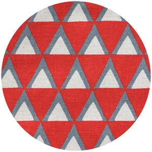 Ellen Luckett Baker for Kokka, Stamped, Triangles Red
