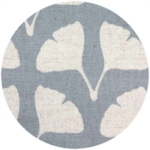 Ellen Luckett Baker for Kokka, Stamped, Ginko Leaves Gray