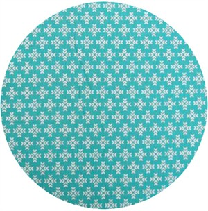 Ellen Luckett Baker, Garden, Cross Print Teal