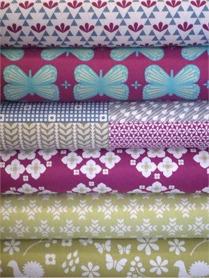 Ellen Luckett Baker, Garden, Fuchsia in FAT QUARTERS 6 Total (PRE-CUT)