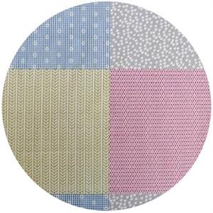 Ellen Luckett Baker, Garden, Pattern Squares Fuchsia (23 Inch Panel)