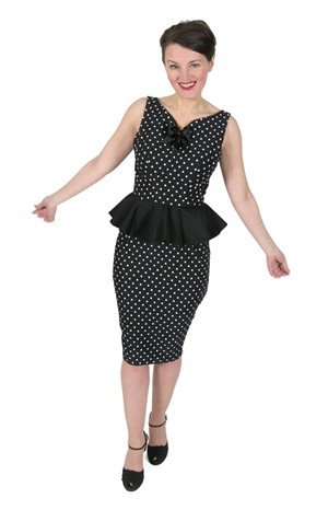 Eliza M Vintage Style Sewing Patterns, Lucyloo Peplum Wiggle Dress