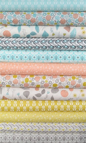 Elizabeth Olwen for Cloud 9, Grey Abbey, Entire Collection in FAT QUARTERS 12 Total (PRE-CUT)