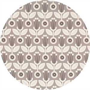 Elizabeth Olwen for Cloud9, ORGANIC,   Grey Abbey, Deco Floral Grey