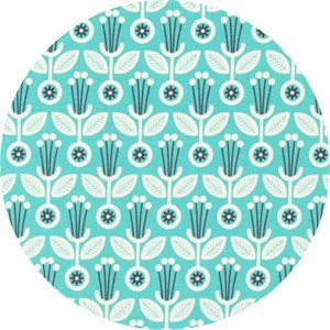 Elizabeth Olwen for Cloud9, Grey Abbey, Deco Floral Spearmint