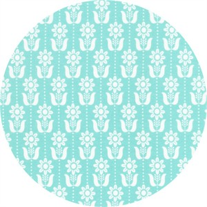 Elizabeth Olwen for Cloud9, Grey Abbey, Folky Daisy Egg Blue