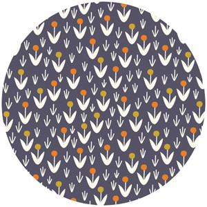 Elizabeth Olwen for Cloud9, ORGANIC,   Morning Song, Dotty Blooms Navy