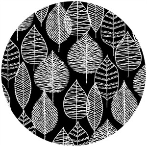 Eloise Renouf, Bark & Branch, Organic CANVAS, Line Leaf Black