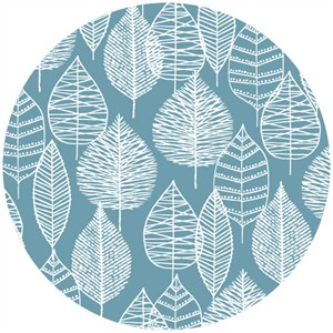 Eloise Renouf, Bark & Branch, Organic CANVAS, Line Leaf Blue