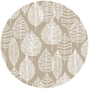Eloise Renouf, Bark & Branch, Organic CANVAS, Line Leaf Grey