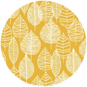 Eloise Renouf, Bark & Branch, Organic CANVAS, Line Leaf Gold